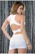 Sırt Dekolteli Fantazi Elbise Beyaz