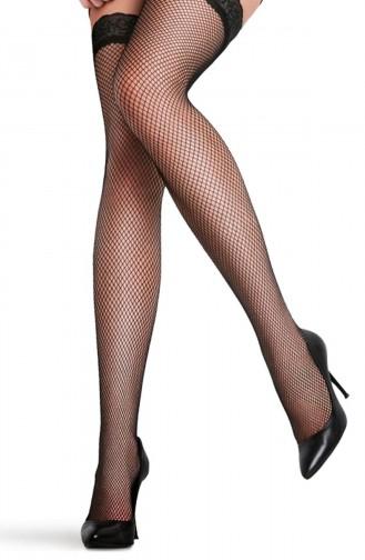 Mite Love Jartiyer Çorabı Dantel Fileli Siyah Renk