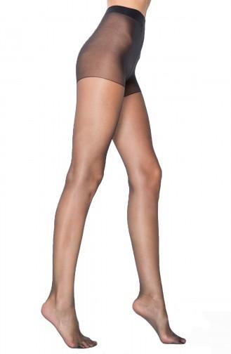 Mite Love Külotlu Çorap Fit Şeffaf Burun Siyah Renk