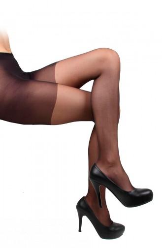 Mite Love Külotlu Çorap Şeffaf Yarı Parlak Siyah Renk