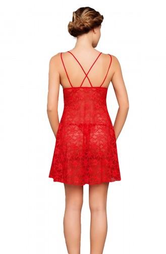 Mite Love Gecelik Transparan Seksi Giyim Kırmızı