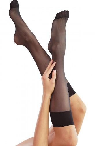 Mite Love Fit 15 Dizaltı Standart ince Çorap Siyah