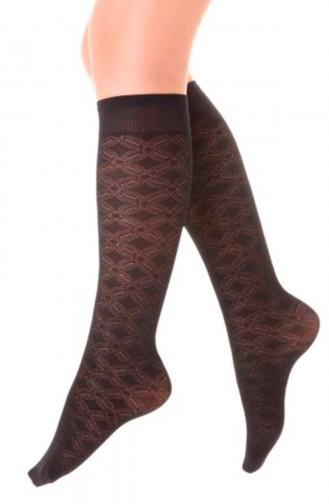 Mite Love Mikro Dizaltı Çorap Hayal Desen Siyah