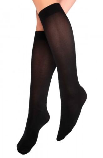Mite Love Teni Göstermeyen Mikro 70 Dizaltı Çorap Siyah