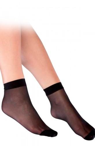 Mite Love Süper İnce Mat 15 Denye Soket Çorap Siyah