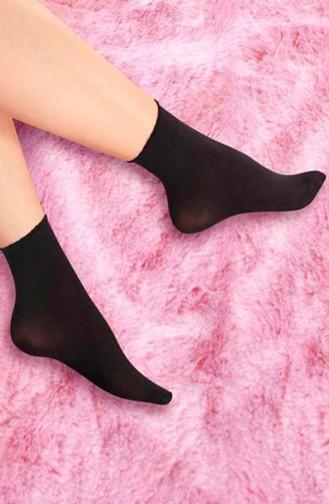 Mite Love 40 Denye Soket Çorap Siyah