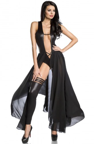 Mite Love Fantezi Body Suit Seksi Tasarım Siyah