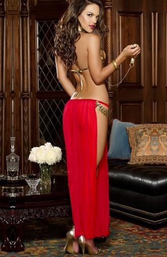 Mite Love Dansöz Kostümü Kırmızı