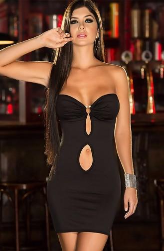 Mite Love Fantazi Elbise Siyah Seksi Giyim