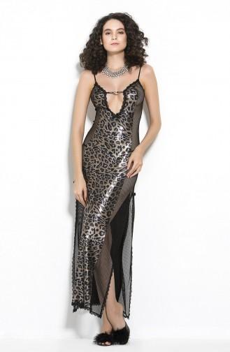 Mite Love Mikro Uzun Gecelik Gold Kadın Giyim