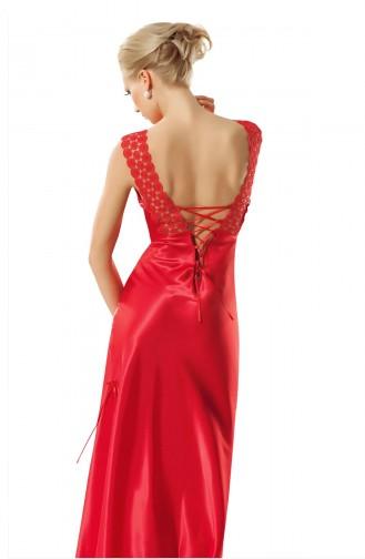 Mite Love Papatya Dantelli Kadın Gecelik Kırmızı