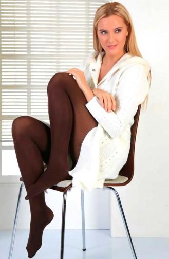 Mite Love Termal Külotlu Çorap Kahverengi