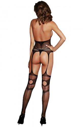 Mite Love Seksi Jartiyerli File Vücut Çorabı Fantezi Giyim