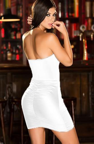 Mite Love Fantazi Elbise Beyaz Seksi Giyim