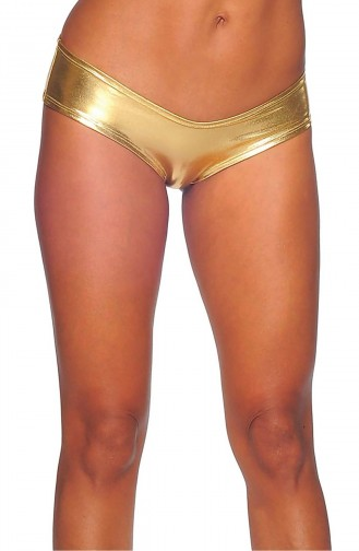 Mite Love Seksi Deri Külot Gold Fantazi iç Giyim