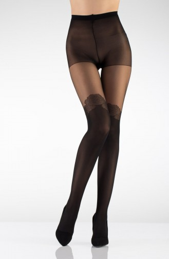 Mite Love Suspender Külotlu Çorap Siyah