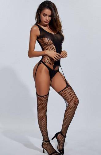 Mite Love Vücut Çorabı Geniş File Addie Siyah