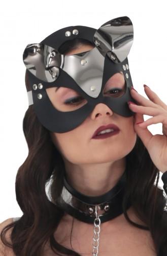 Mite Love Gri Deri Kedi Kız Fantazi Maske