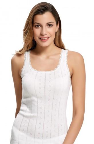 Mite Love Kadın Atlet Beyaz iç Giyim
