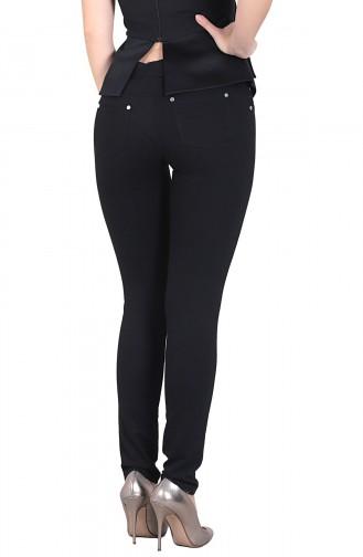 Mite Love Fermuarlı Kadın Siyah Tayt Pantolon