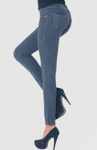 Mite Love Fermuarlı Kadın Pantolon Tayt Gri