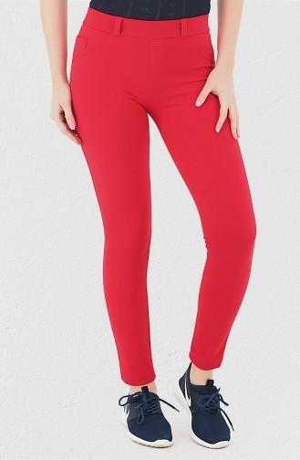 Mite Love Cep Detaylı Kırmızı Pantolon Tayt