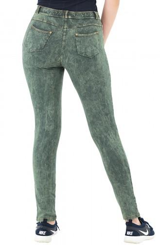 Mite Love Yeşil Pantolon Görünümlü Kadın Tayt