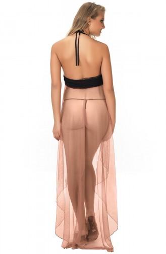 Mite Love Kadın Pudra File Tül Gecelik Fantezi Giyim ML-9458