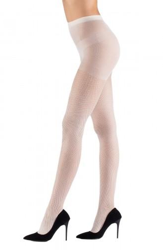 Mite Love File Külotlu Çorap 15 Denye Beyaz