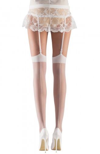 Mite Love Gelin Jartiyer Çorabı Beyaz