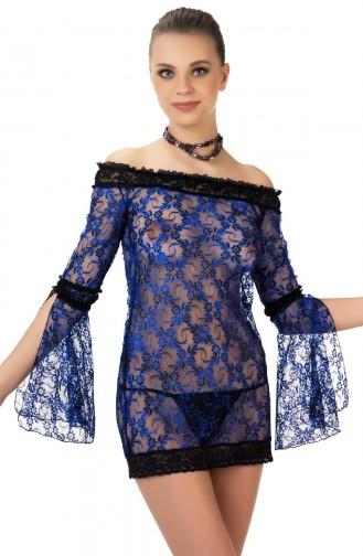 Mite Love Gecelik Lez Dantel Mavi Fantazi Giyim