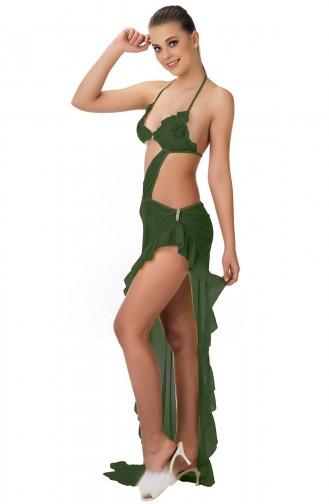 Mite Love Yeşil Gecelik Transparan Seksi Kadın Giyim