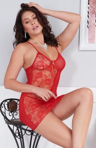 Mite Love Kadın Gecelik Kırmızı Dantel Fantazi Giyim
