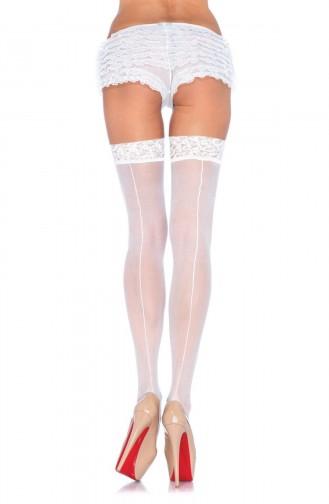 Mite Love Jartiyer Çorap Dantelli Beyaz Çizgili 15 Denye