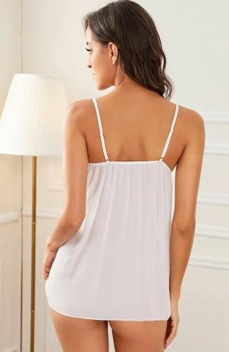 Mite Love Mini Kadın Gecelik Beyaz