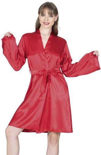 Mite Love Kadın Sabahlık Kırmızı Saten