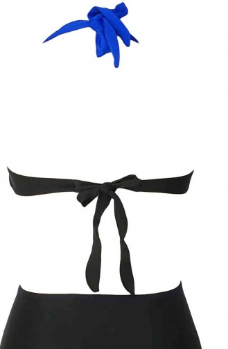 Angelsin Mavi Siyah Bikini üst