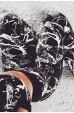 Merry See Baskılı Şık Tayt Büstiyer Takım Siyah