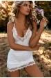 Merry See Dantel İşlemeli Gecelik İç Giyim Beyaz