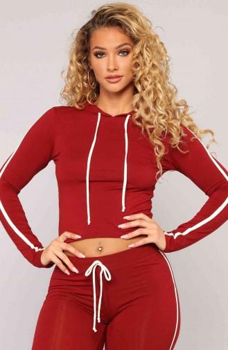 Merry See Penye Eşofman Pijama Takım Kırmızı