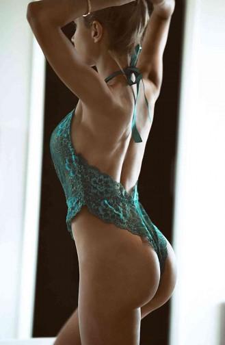 Merry See Yeşil Seksi Body İç Giyim